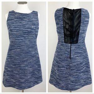 Alice + Olivia blue tweed dress